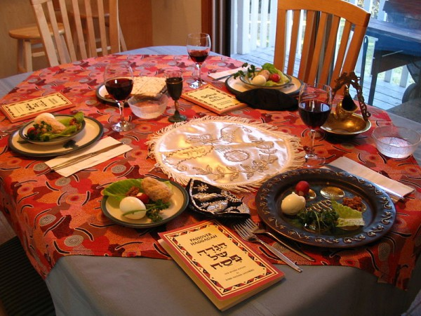 Seder Table-Haggadahs-Passover