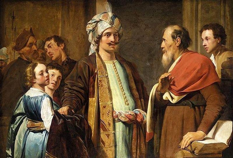 Elijah Refusing Gifts from Naaman-Pieter de Grebber