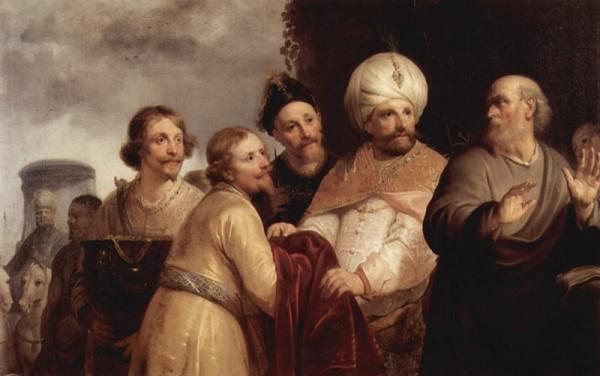 Elisha refuses the gifts of Naaman-Pieter de Grebber