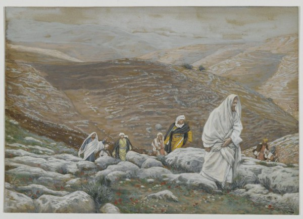 With Passover Approaching, Jesus Goes Up to Jerusalem-James Tissot
