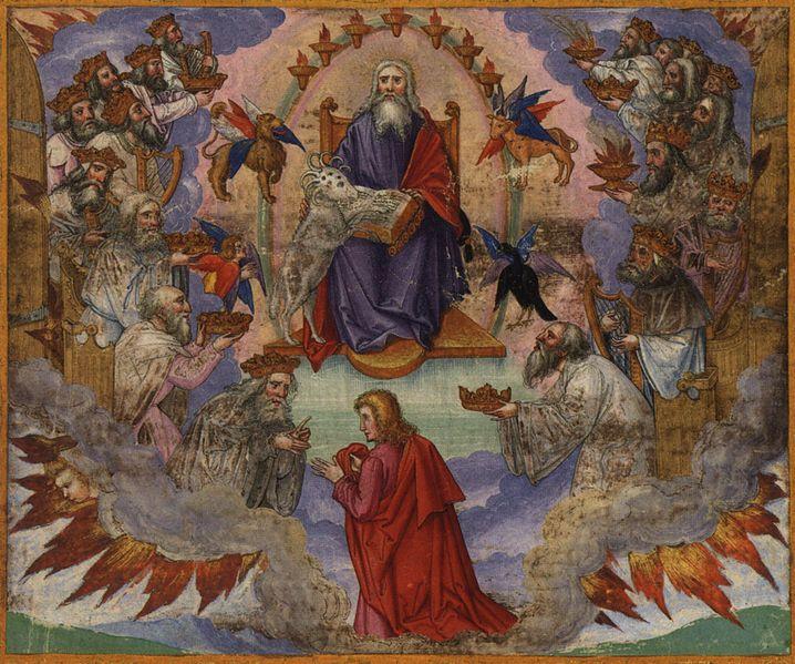 John's Vision of Heaven-Matthias Gerung-Lamb-Seven seals.