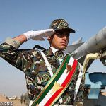 Iranian soldier and missile