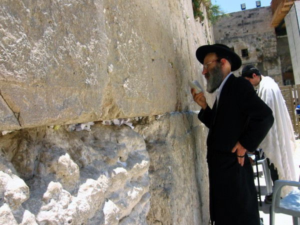 Orthodox Jewish man-Western (Wailing) Wall