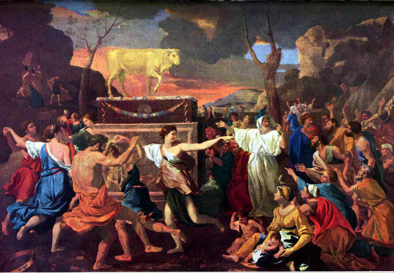 The Adoration of the Golden Calf, by Nicolas Poussin