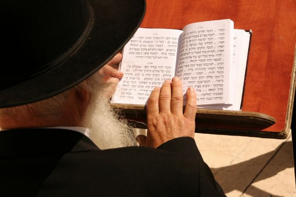 Jewish-reads-prayer-holy-book-Western-Wailing-Wall