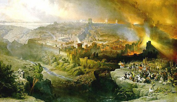 The Siege and Destruction of Jerusalem by the Romans Under the  Command of Titus-David Roberts