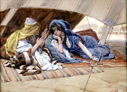 Abram's Counsel to Sarai, by James Tissot