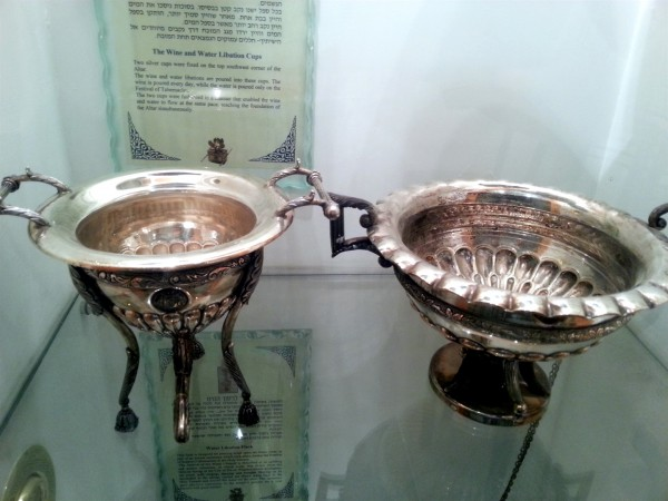 Water and Wine Libation Cups-Silver Cups-Sukkot-Feast of Tabernacles