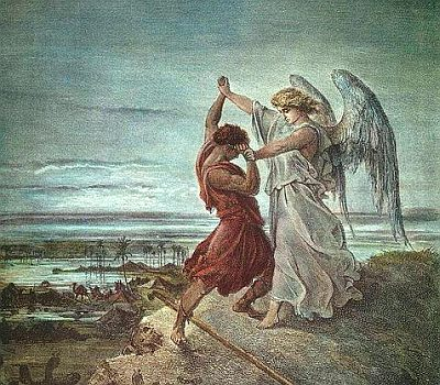 Jacob Wrestling with the Angel, by