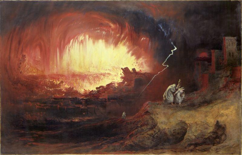 The Destruction of Sodom and Gomorrah, by John Martin
