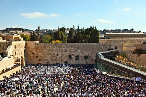 Western wall-crowd