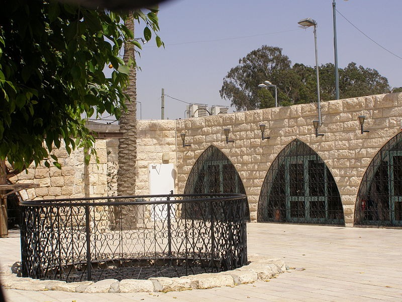 Ancient well in Be'er Sheva thought to be dug by Abraham.