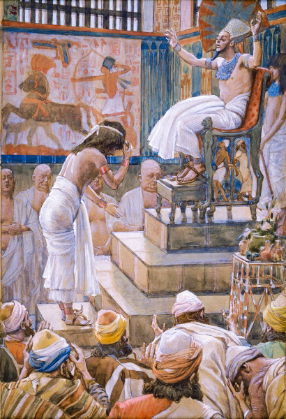 Joseph and His Brethren Welcomed by Pharaoh-James Tissot