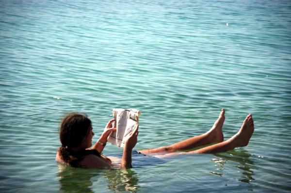 Dead Sea-man floating