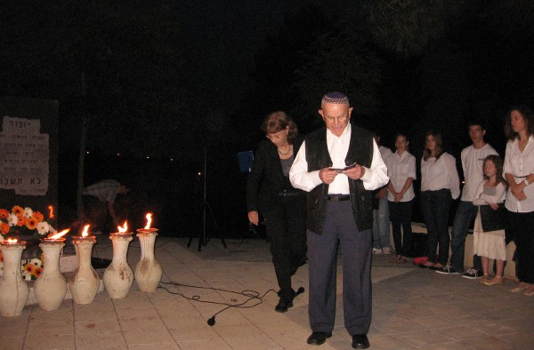 Holocaust survivor- Yom HaShoah ceremony