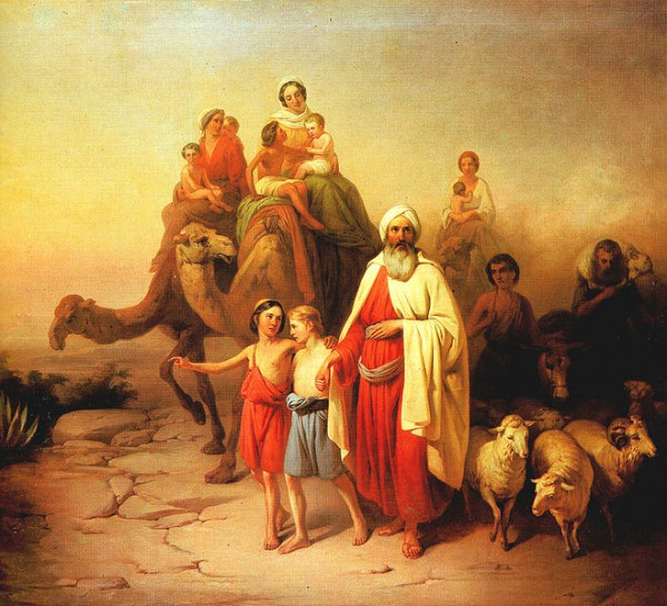 Abraham's Journey from Ur to Canaan, by Jozsef Molnar