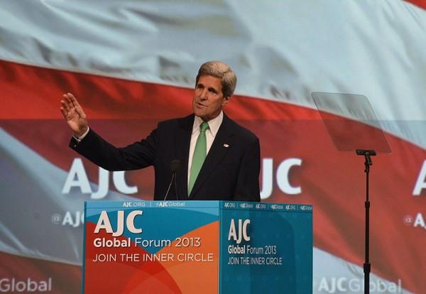 John Kerry-Speaking-AJC Global Forum-2013