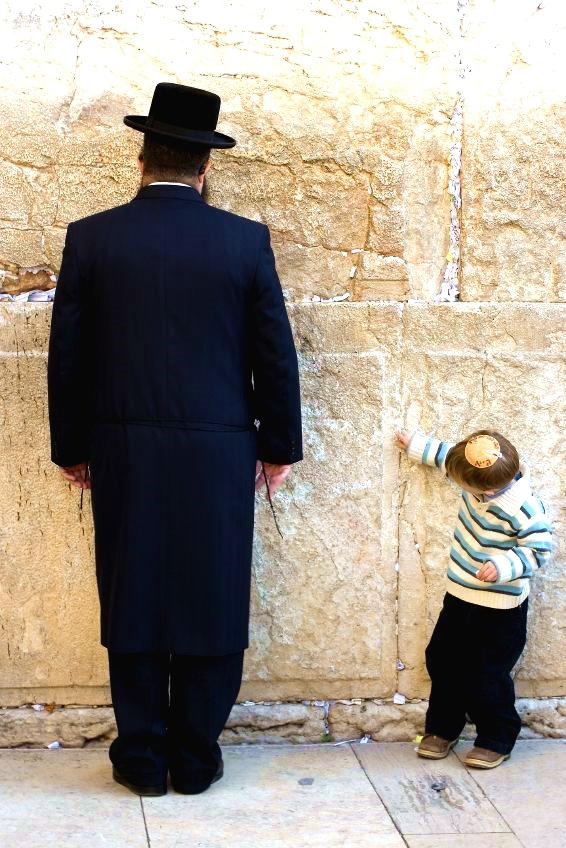 Praying-Western Wailing Wall