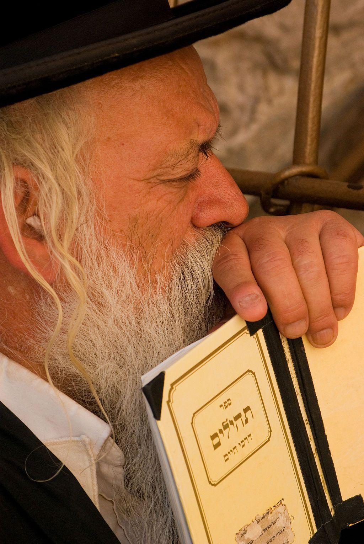 Orthodox Jewish Man-Book of Psalms