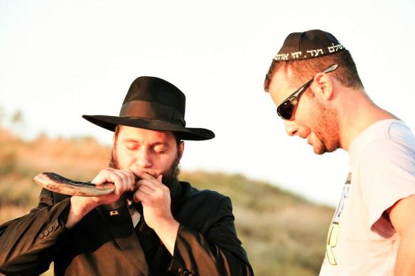 Blowing-hearing-shofar
