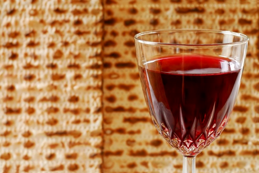 Passover-wine-matzah-unleavened-bread