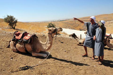 Two Men-Camel-Judean Desert