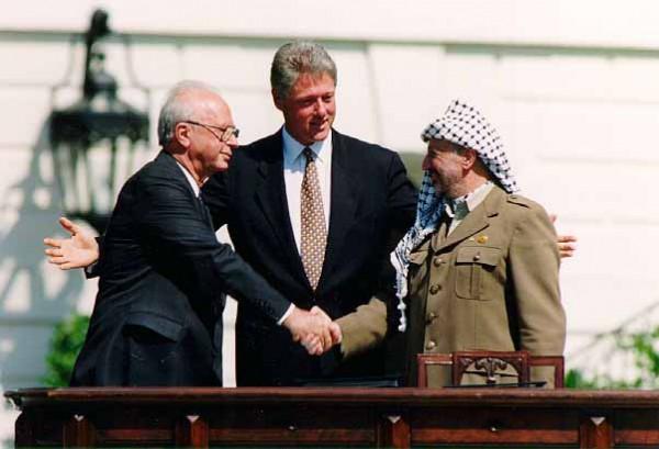 Bill Clinton-Yitzhak Rabin-Yasser Arafat