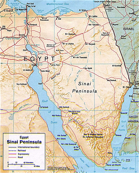 Sinai-Peninsula-map