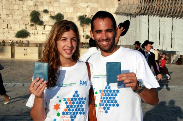 French New Immigrants-Israeli Citizens-Western Wall
