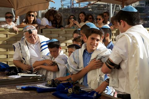 Young-Jewish-Men-Putting-on-Tefillin