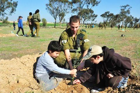 Tubishvat_children_IDF_Negev