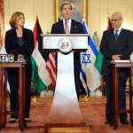 Kerry-Livni-Erekat-Mid-East-peace talks
