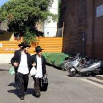 Italy-Rome-Orthodox Jewish men