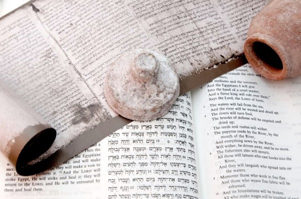 Hebrew scroll-Word of God-clay jar