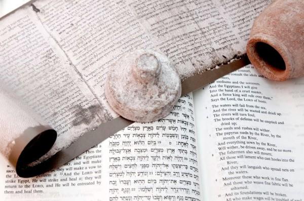 Hebrew scroll-Word of God-clay jar