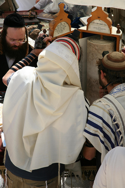 reading-Torah-Western (Wailing) Wall-Jerusalem