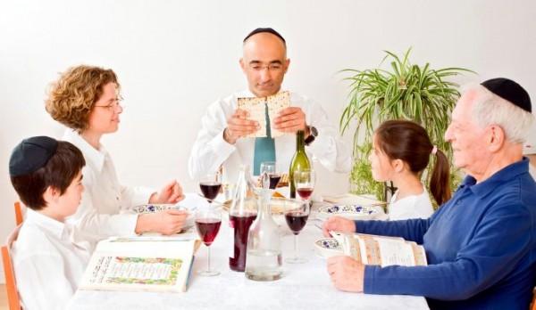Jewish family-Matzah-Passover-Pesach-Seder