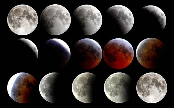 Lunar eclipse-March 2007-Persian Gulf-USS Boxer