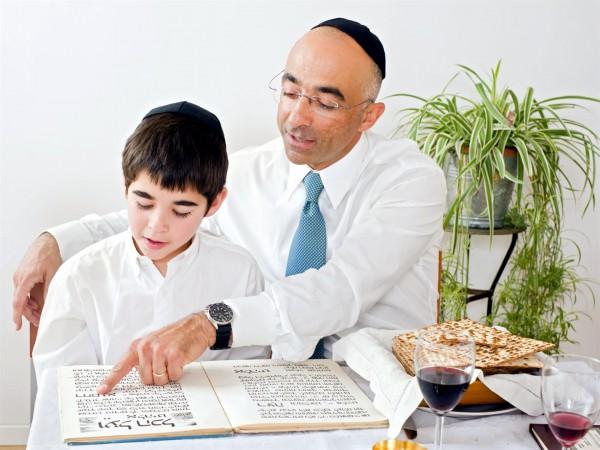 father-son-Haggadah-Passover-Seder