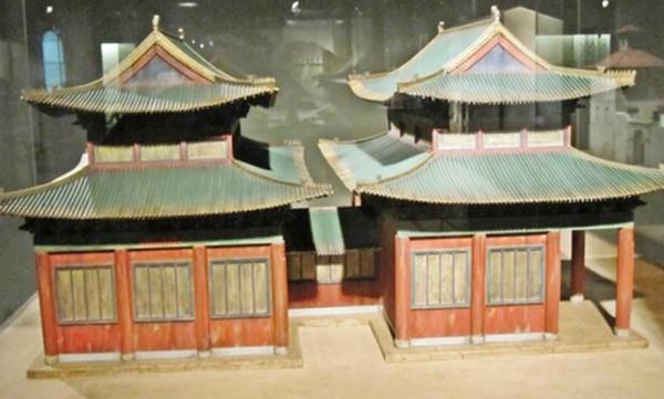 Kaifeng Synagogue model at Diaspora Museum in Tel Aviv.