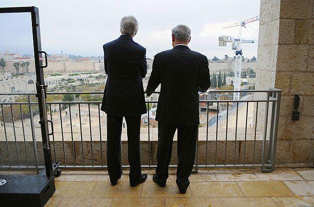 John Kerry-Benjamin Netanyahu-Jerusalem