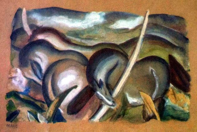 Horses in Landscape, by Franz Marc, is one of the artworks discovered in the possession of Cornelius Gurlitt.