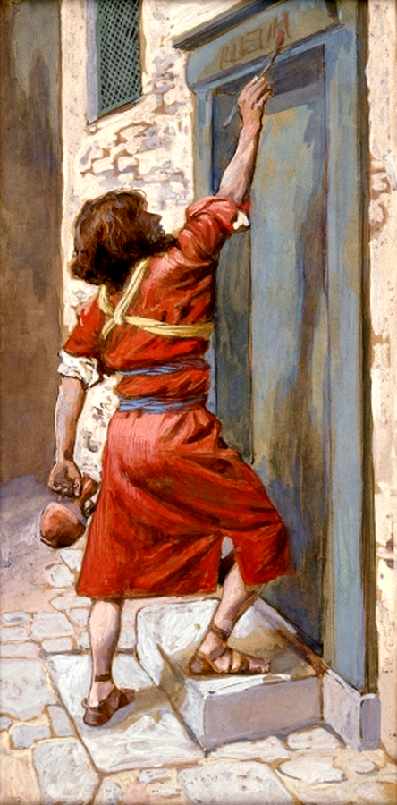 Sign on the Door, by James Tissot