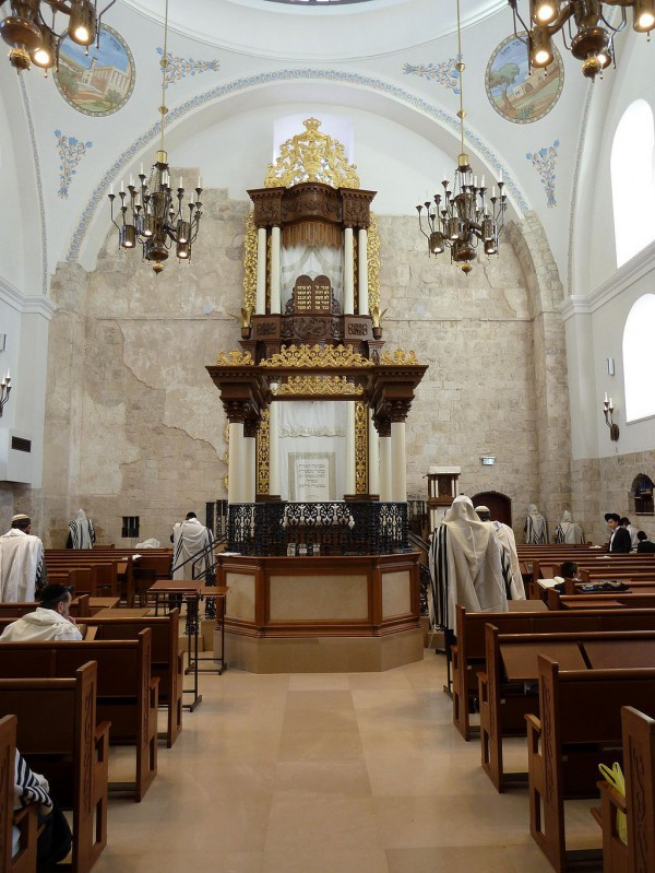 Old Jerusalem-Hurva Synagogue-Morning Prayer
