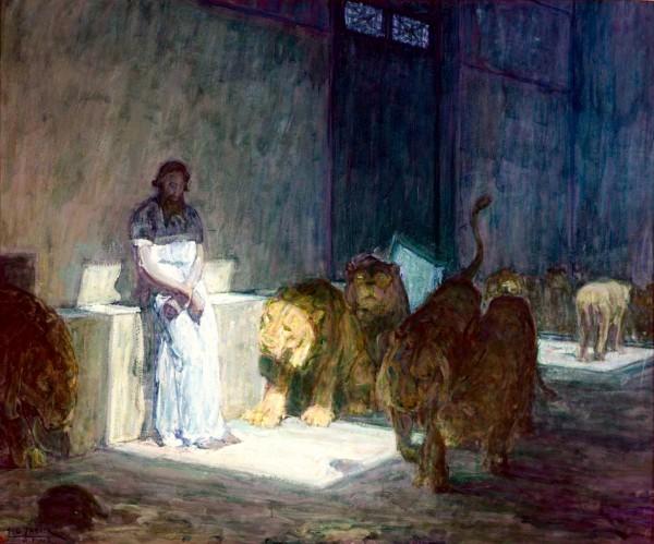 Daniel in the Lion's Den-Henry Ossawa Tanner