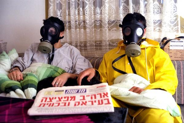 bomb shelter-gas masks-Israel