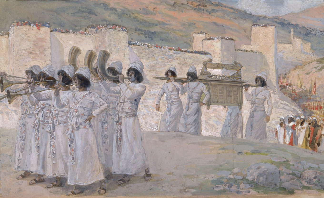 The Trumpets of Jericho, by James Tissot