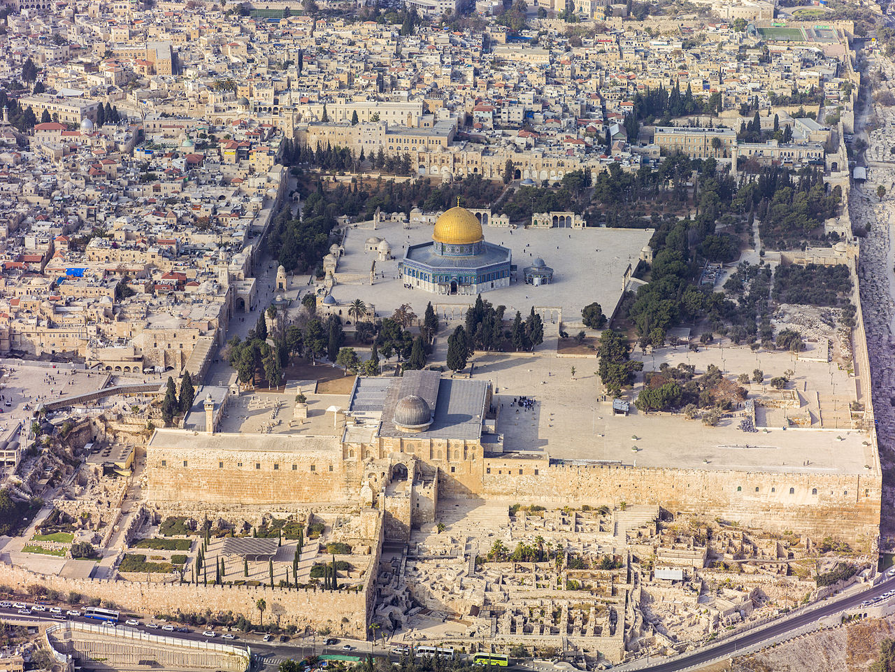 Ariel view of  Temple Mount