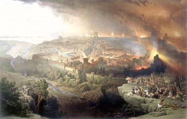 The Siege and Destruction of Jerusalem by the Romans Under the Command of Titus, AD 70-David Roberts
