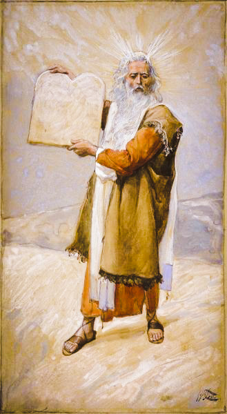Moses and the Ten Commandments, by James Tissot